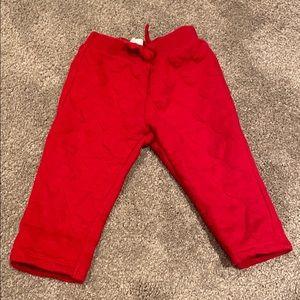 H&M embossed heart pants